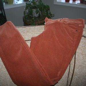 LUCKY BRAND RUST COLOR CORDUROY PANT SZ 10